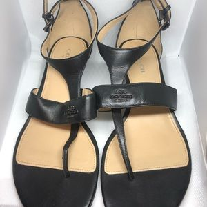 Coach Black Leather Sandals 7